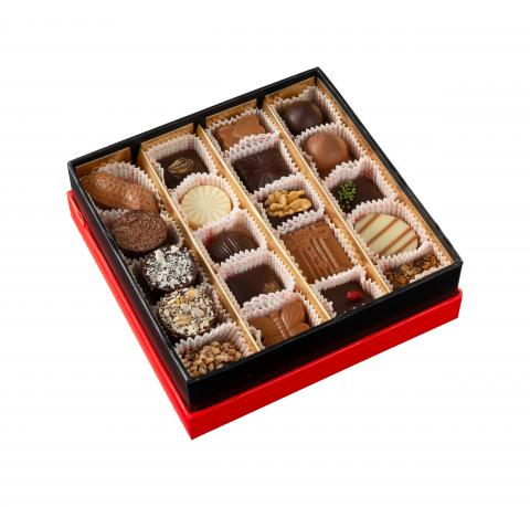 Square box - 20 pralines
