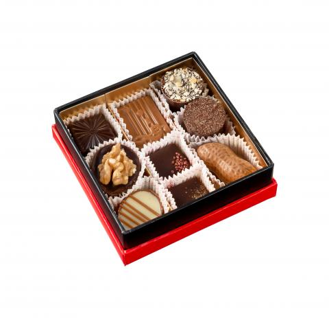 Square Box - 9 pralines