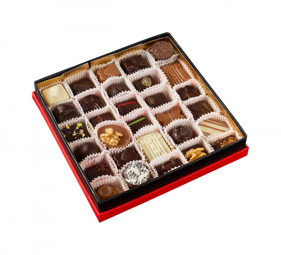 Square box - 30 pralines